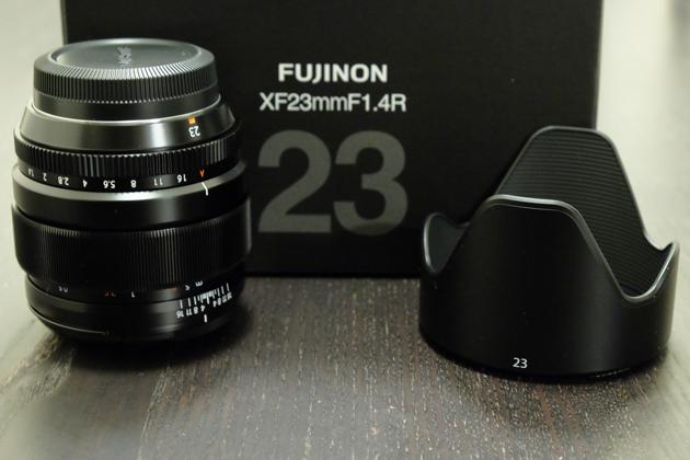 FUJIFILM XF23mmF1.4R購入 フードがでかい