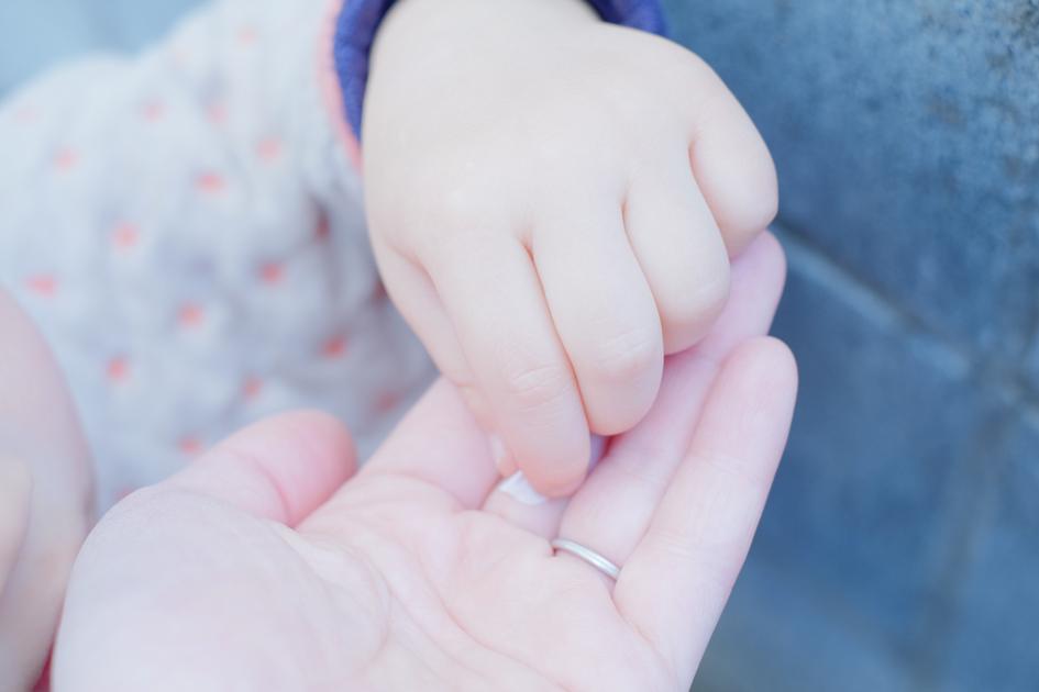 手のひらに春を 娘と