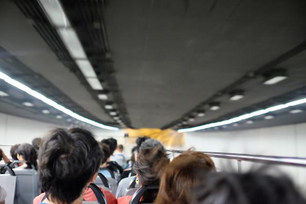 オープントップバス_&_ビクトリアピーク夜景鑑賞ツアー_前編_ジェットコースターみたい
