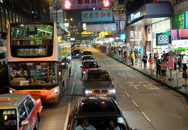 オープントップバス_&_ビクトリアピーク夜景鑑賞ツアー_前編_2階建てバスもこのとおり