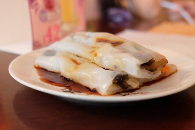 香港ディズニーランド_プラザインPlaza_Innでランチ_野菜の腸粉
