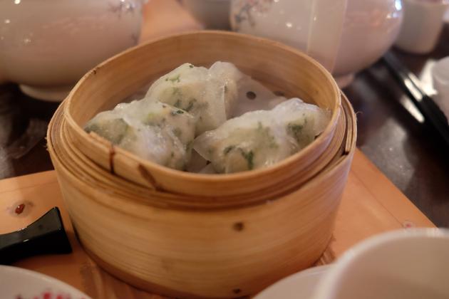 香港ディズニーランド_プラザインPlaza_Innでランチ_カニの蒸し餃子