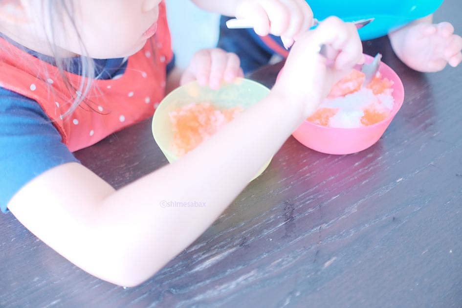 きょろちゃんのかき氷_4